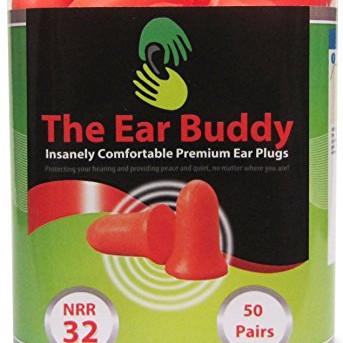 The Ear Buddy Premium Soft Foam Ear Plugs